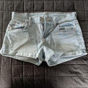Light Wash Boyfriend Jean Shorts